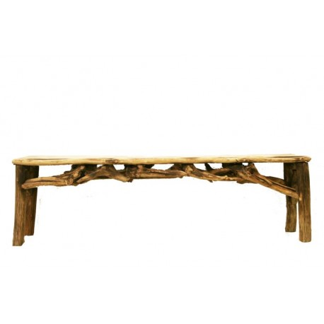 Bench in Roots of Forest - Size 60 x 14,8 x 19,2 inch