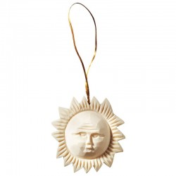 Sun carved in linden wood