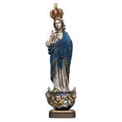 Madonna of Carmel with Angels Wood - color
