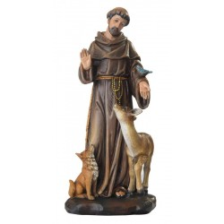 Saint Francis in paste of wood