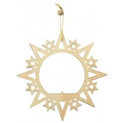 Christbaum-hänger Kreis mit Sterne