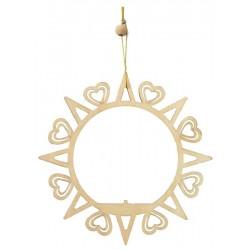 Weihnachtsbaum Dekoration - Kreis mit Herzen