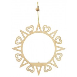 Christmas decoration - Circle wit hearts