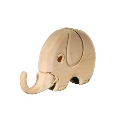 Elefante puzzle in legno
