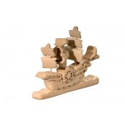 Piratenschiff, 3D Holz
