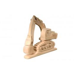Puzzle 3D in legno ruspa con escavatore