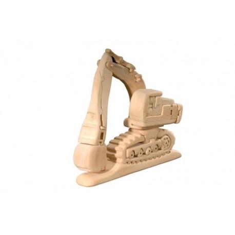 3D Puzzle wood Excavator Brain