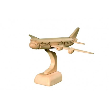 Aeroplano in puzzle 3D in legno