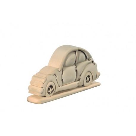 Car 3D Puzzle in Linden wood