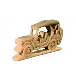 Jeep puzzle 3D in legno di tiglio