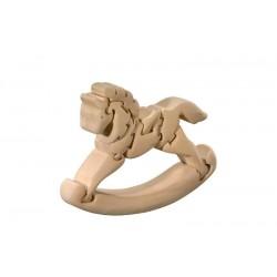 Cavallo a dondolo puzzle 3d in legno di tiglio