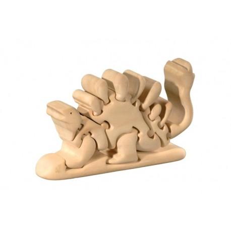 Dinosauro 3D in legno di tiglio