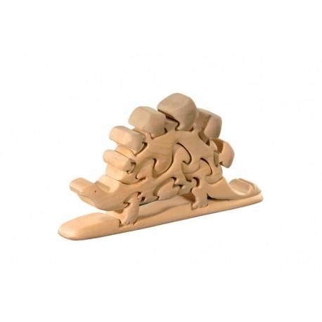 Dinosauro 3d Puzzle tridimensionale in legno