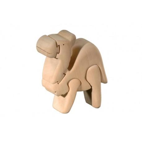Camel 3D Puzzle in Linden wood