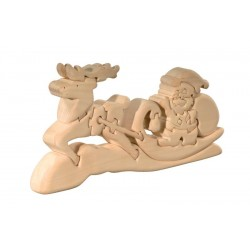 Santa Claus with sledge