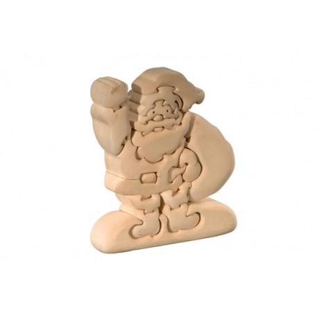 Babbo Natale con sacco puzzle 3d in legno