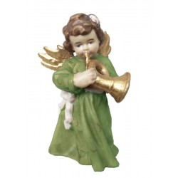 Angel with Trumpet wood carved
