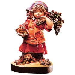 My first Cake Collectible Figure carved in maple wood - Dolfi small Gifts for Women - Made in Italy