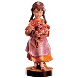 Carved wood Figure Girl with Flowers - Dolfi Dremel wood Carving Bits - Made in Italy