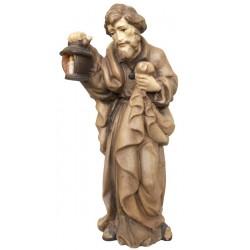 Heiliger Josef aus Ahornholz geschnitzt, diese Holzfigur von echten Grödner Holzschnitzer - Brauntöne lasiert