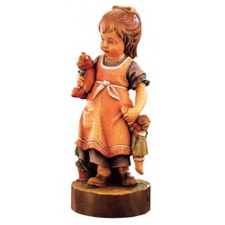 Girl with Doll - Dolfi Chainsaw Bear - Made in Italy