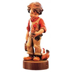 Peasant Boy - Dolfi Eagle wood Carving - Made in Italy