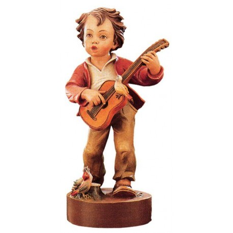 Wooden Boy with Guitar