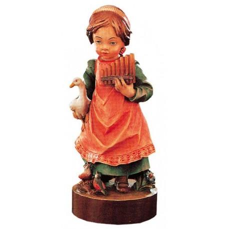 Mädchen als Pfeifenspielerin aus Holz