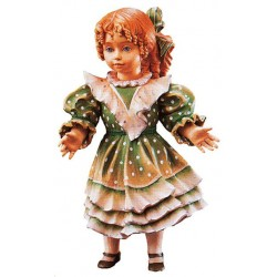 Freestanding Doll Susie carved in wood Collectible Figure - Dolfi Practical Housewarming Gifts