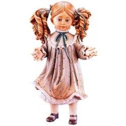 Freestanding Doll Nadia carved in wood Collectible Figure Gifts for Adults - Made in Italy