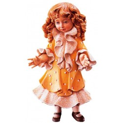 Freestanding Doll Monica carved in wood Collectible Figure - Dolfi Wedding Anniversary Gifts for Him
