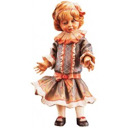 Freestanding Doll Irene carved in wood Collectible Figure Gifts for old People - Made in Italy