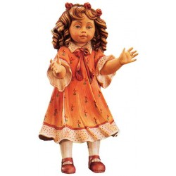 Freestanding Doll Elena carved in wood Collectible Figure - Dolfi Gifts for Students - Made in Italy