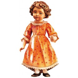 Freestanding Doll Tina carved in wood Collectible Figure - Dolfi New Home Gift Ideas - Made in Italy