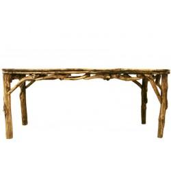 Tavolo da pranzo costruito in radici di bosco dai nostri abili scultori