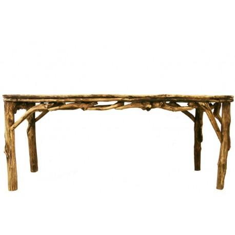 Rechteckiger Tisch aus Waldwurzeln