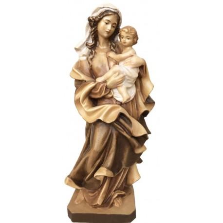 Madonna des Herzes - Holz in verschiedenen Brauntönen lasiert