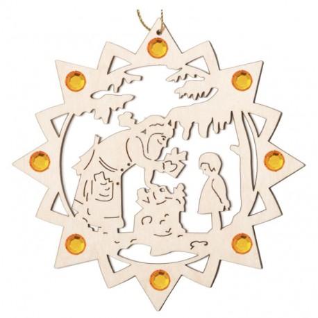 Babbo Natale con regali con cristalli
