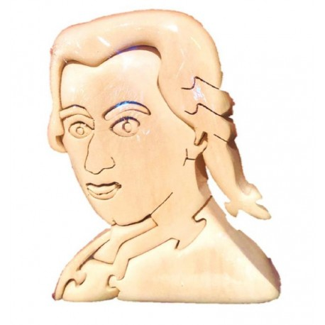 Wolfgang Amadeus Mozart puzzle 3d in legno