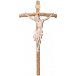 Body of Christ on Curved Cross - natural