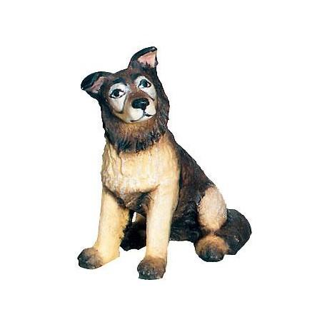 Schäferhund aus Ahorn-Holz - Bemalt
