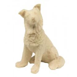 Schäferhund aus Ahornholz geschnitzt, diese Holzschnitzerei ist eine wichtige Südtiroler Holzfigur - Naturbelassen
