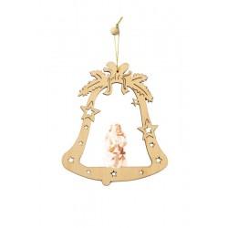 Campana con angelo scolpito di legno - naturale