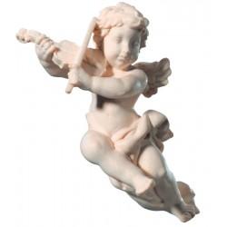 Fliegender Engel mit Violine aus Holz - Natur