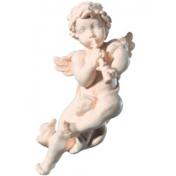 Flying Putti Angel with Clarinet - natural