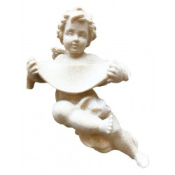 Guardian Angel in wood with your name - natural