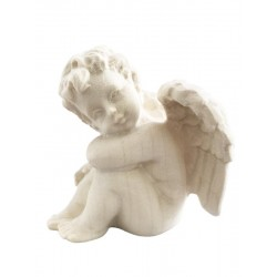 Left sitting Angel - Dolfi Wooden Christmas Angels - Made in Italy - natural