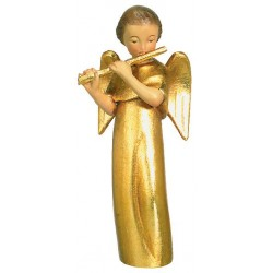 Modern Style Angel with Cross - Wood golden with gold leaf