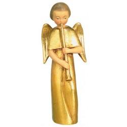 Moderner Engel mit Flöte - Holz Blattgold vergoldet