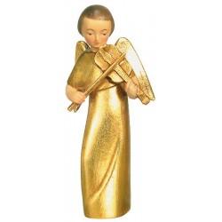 Moderner Engel mit Violine - Holz Blattgold vergoldet